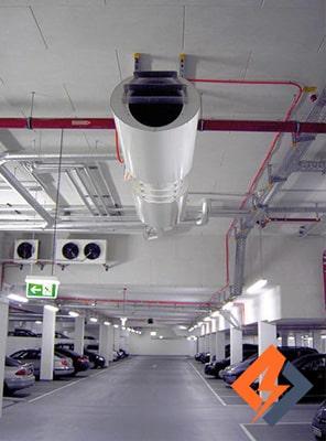 محاسبه تهویه پارکینگ های زیرزمینی