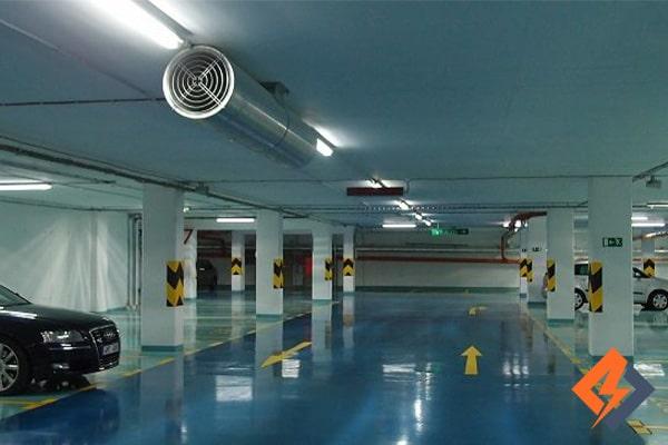 سیستم طراحی تهویه پارکینگ