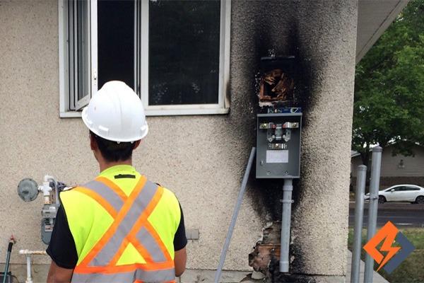 علت آتش سوزی کنتور برق
