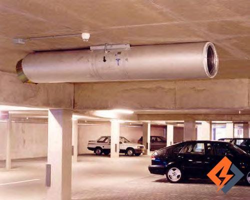 کنترل انتشار دود با جت فن پارکینگ